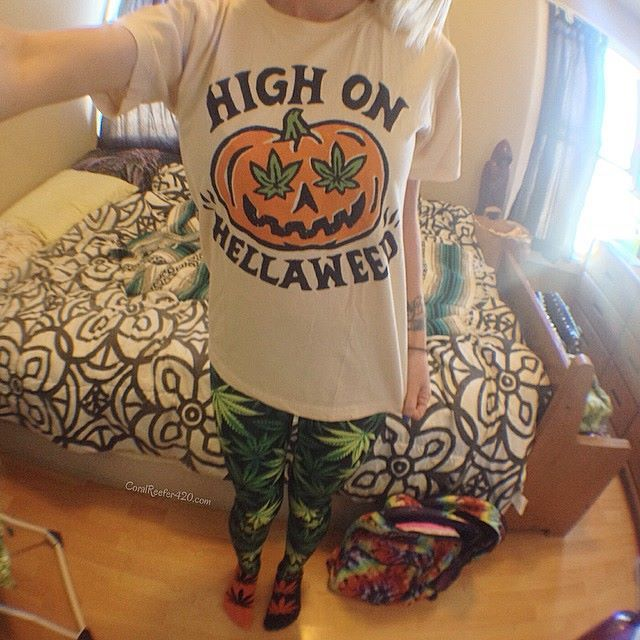 Awesome Stoner Halloween Outfit Shirt By Killercondo