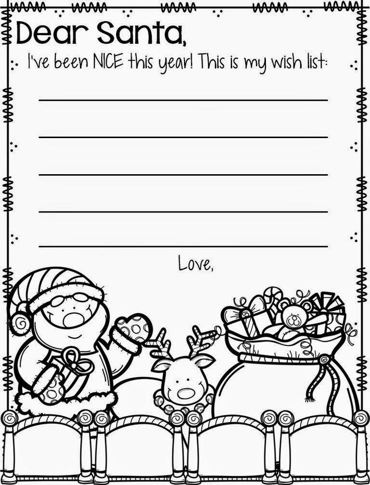 Cute letter to Santa template KinderLand Collaborative