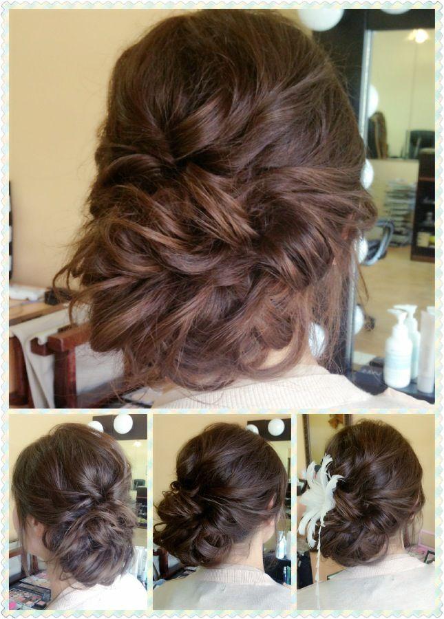 Bridal Hair Rustic Romantic Loose Updo Long Hair
