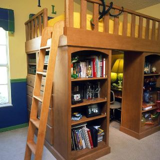 Cool Loft Bed With A Hideout Desk Underneath Cool
