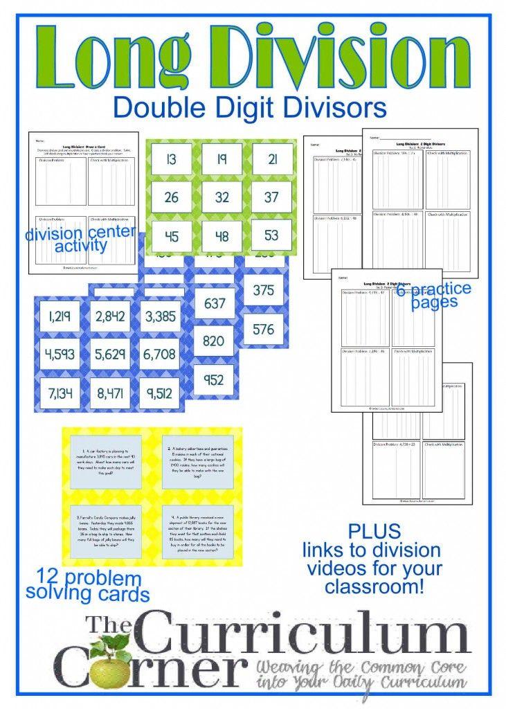 Long Division Resources (2Digit Divisor Activities
