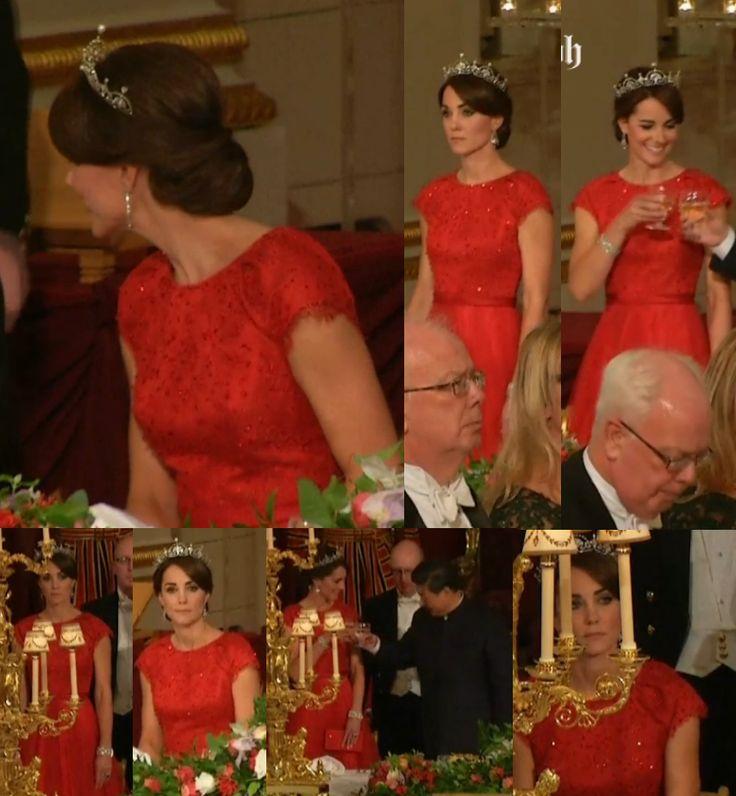 Kate Middleton Wears The Lotus Flower Tiara To Her First