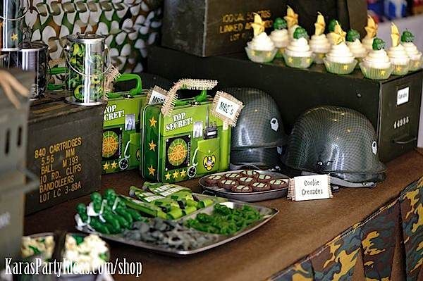 Military Birthday Party Food Ideas Army Camouflage