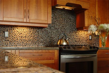 Pebble Splash Back Kitchen Makeover Ideas Pinterest