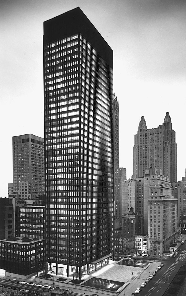 Seagram Building. New York City. Mies Van Der Rohe, Philip