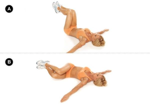 Knee Drop to reduce love handles