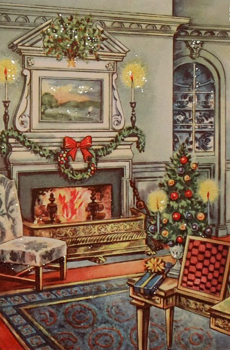 17 Best Images About VINTAGE GREETINGS CHRISTMAS On