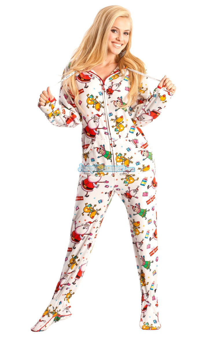 Santa Baby Hooded Footed Pajamas Pajamas Footie PJs
