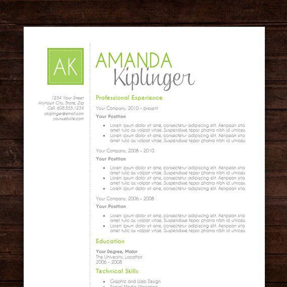 cv design quot the amanda quot