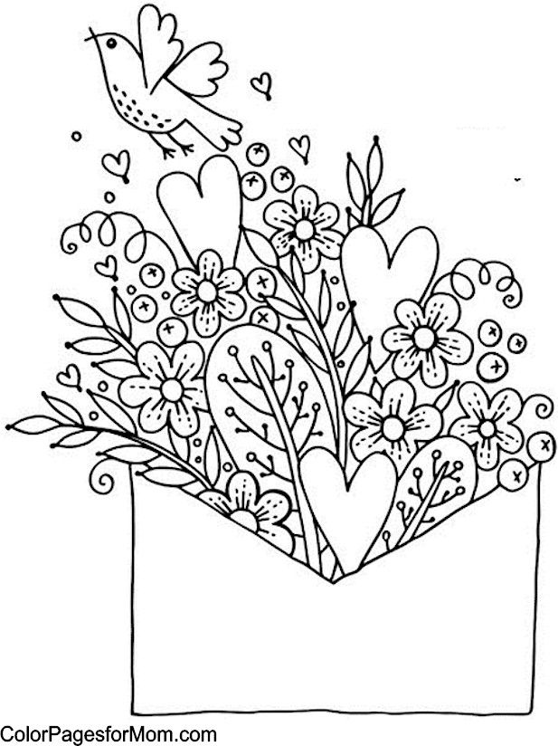 Hearts Coloring Page 17 Crafts C Clip Art Amp Colored
