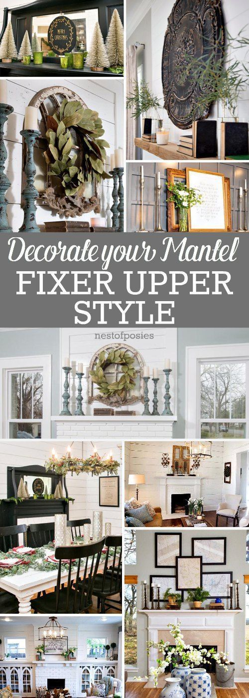 How To Decorate A Mantel Fixer Upper Style Christmas