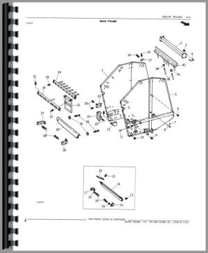 John Deere 410 Round Baler Parts Manual | Products