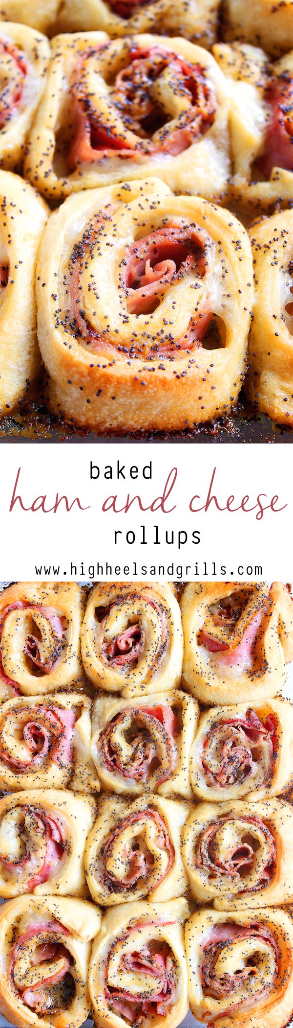 Baked Ham and Cheese Rollups – These are a crowd pleaser EVERY time I make them. Made using @Boar's Head ham! #ad