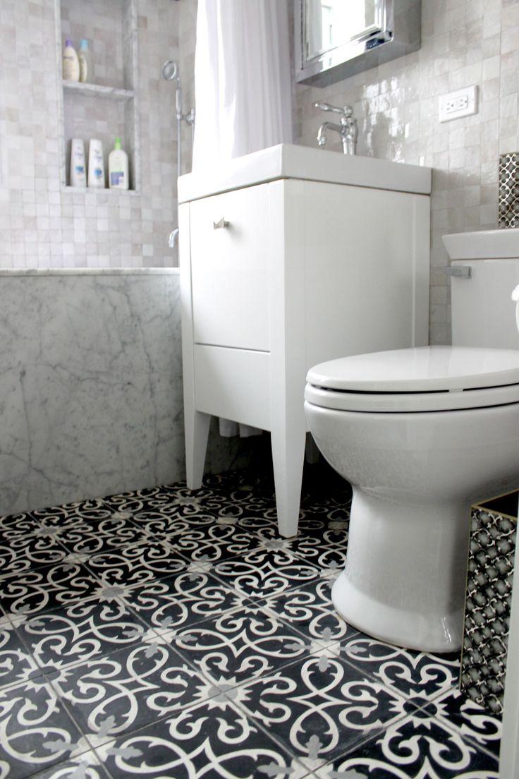 Guest bathroom flooring wet room Lucifer C41424