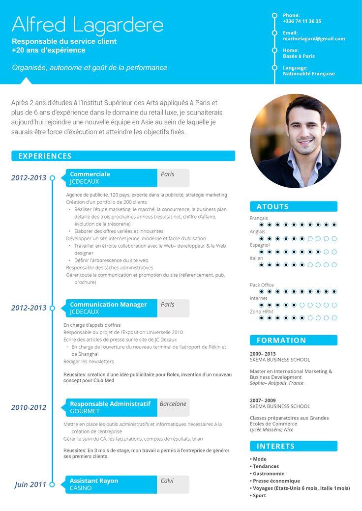 CV moderne Positif CV's Pinterest