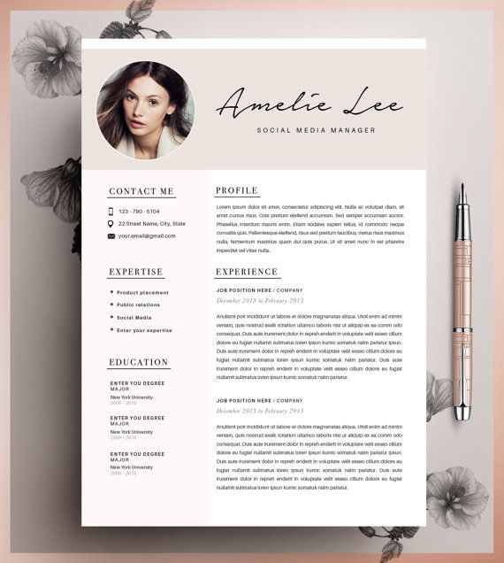 1000 ideas about template cv on pinterest resume resumà and