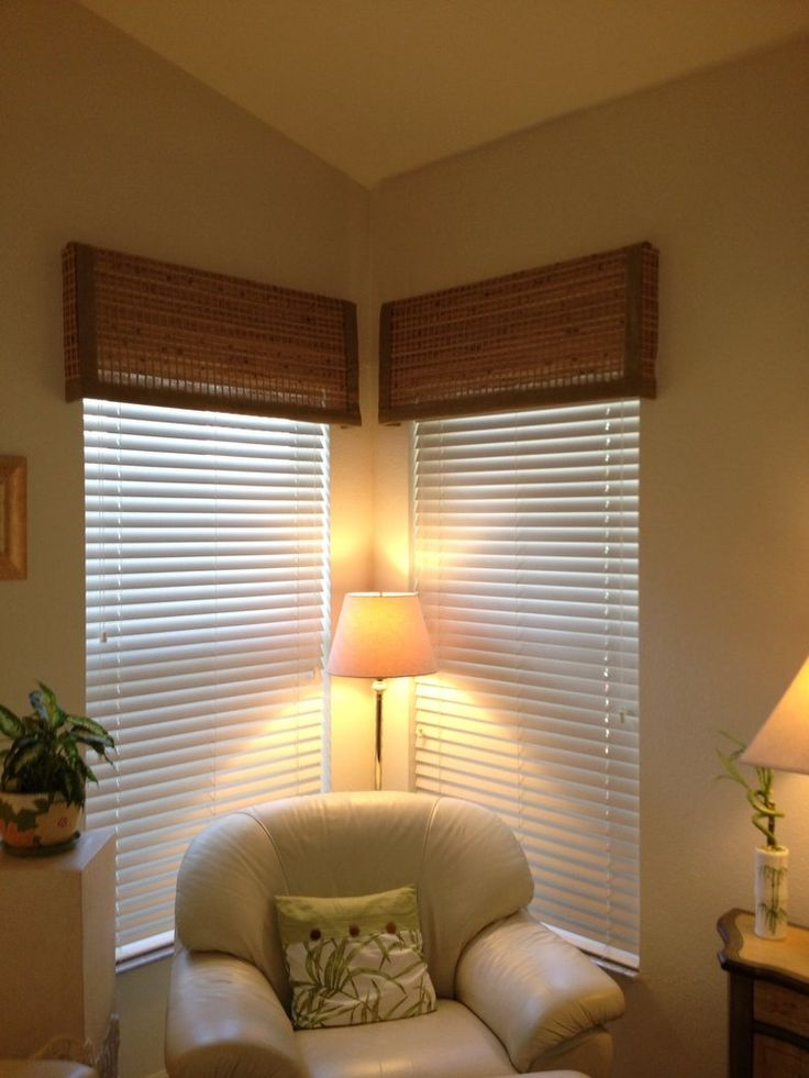 Faux Wood Blinds With Woven Wood Valances Yelp