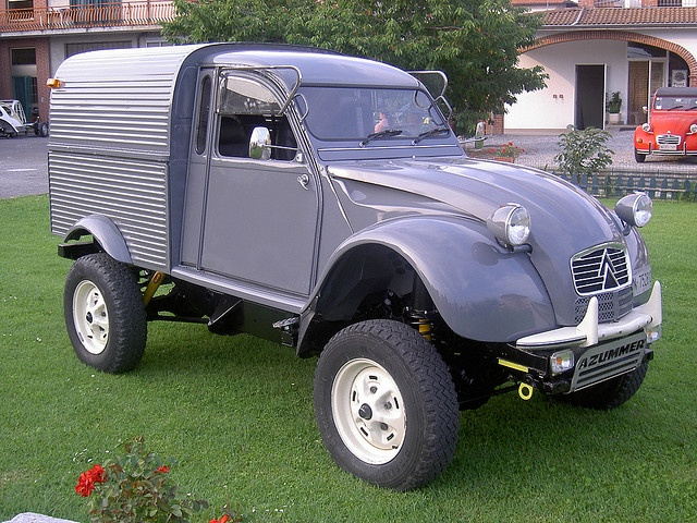 Citroen 2cv Azu + Defender td90 Cars and Bikes