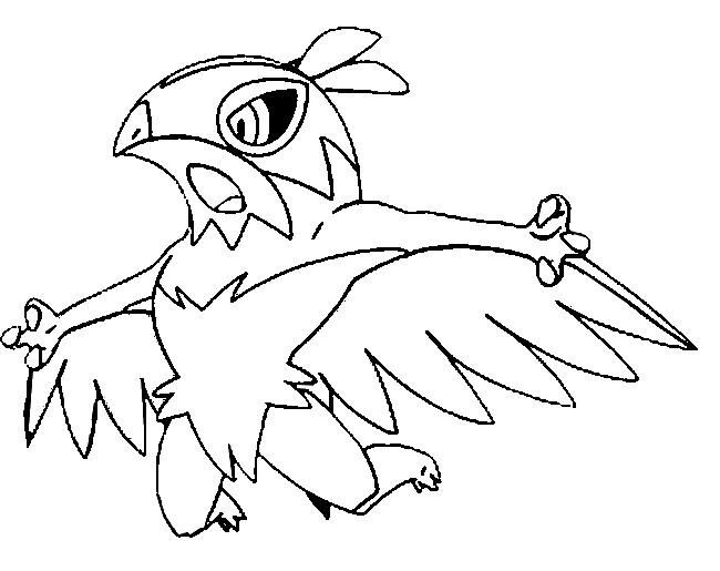 kleurplaat pokemonxandy hawlucha coloring http www pokemon
