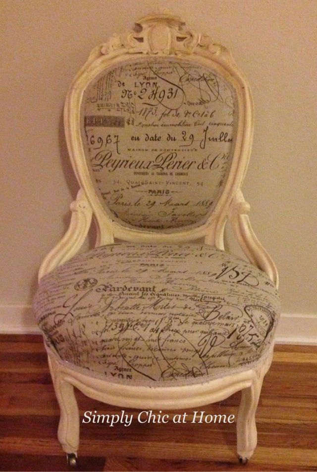 Antique Victorian Chair Makeover French Chic Simply Chic