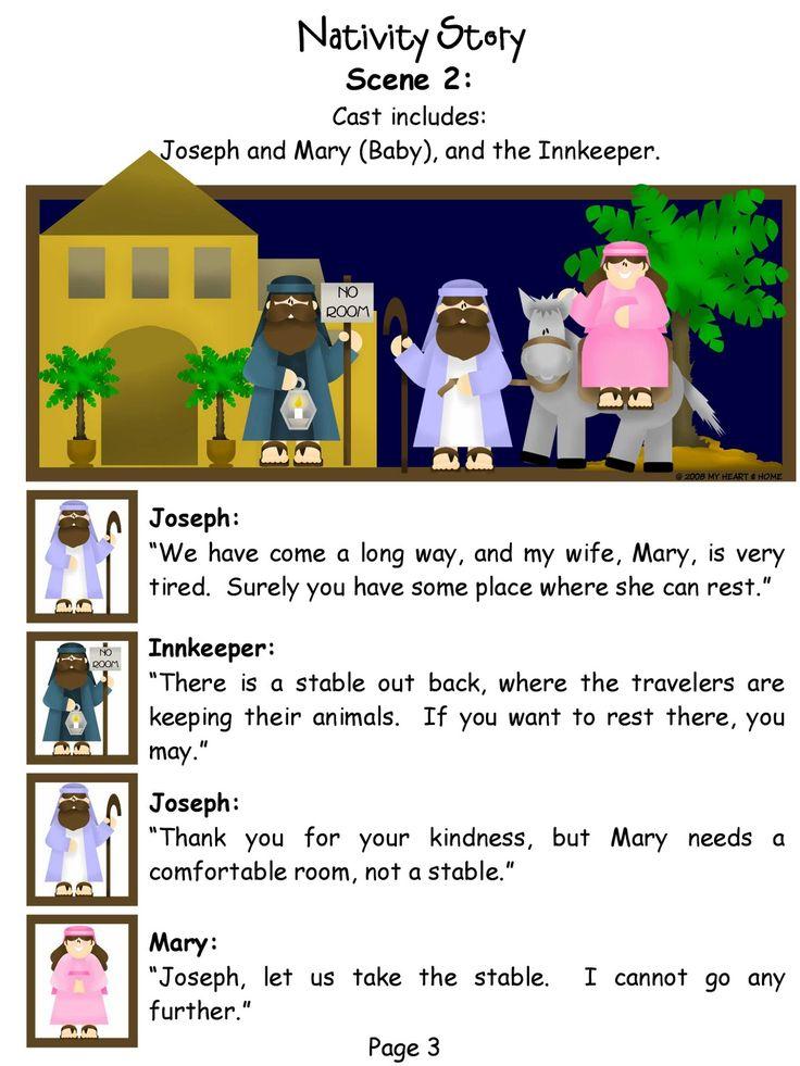 The Nativity Story Script Children's Ministry Pinterest