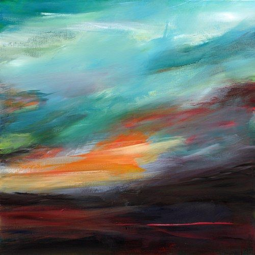 Ute Laum Art Miscellaneous Landscapes Nature: Air Modern Age Abstract Art Non-Ob