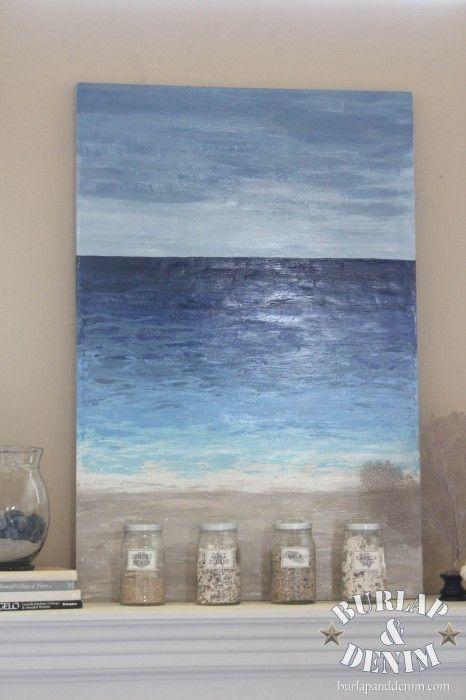 Tutorial for making Beach inspired art for cheap!