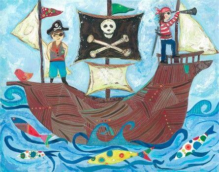 Pirate Ship Art Print The Ojays Art And Pirates