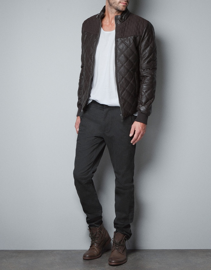 QUILTED FAUX LEATHER JACKET Jackets Man ZARA United