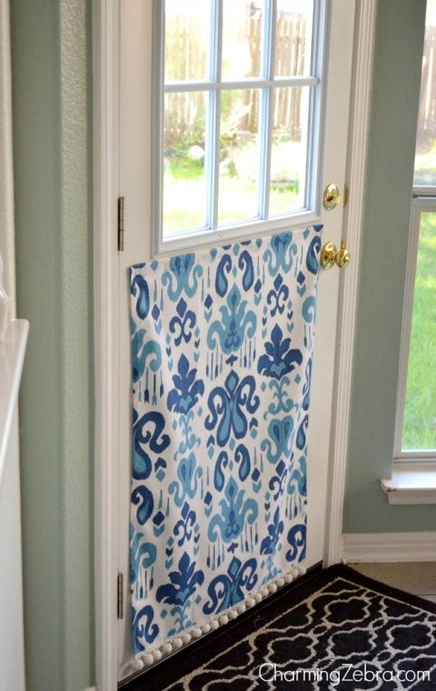 No Sew Magnetic Window Covering Waterproof Fabric Pets