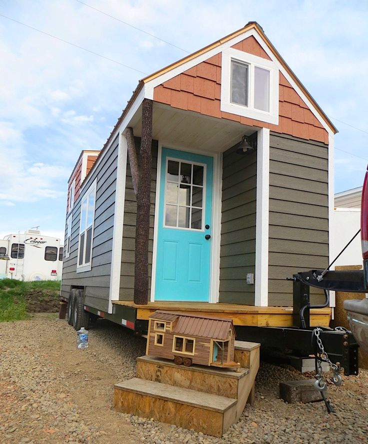 A tiny house on wheels in North Carolina, built by Brevard