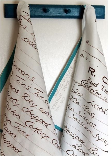 ideas for mothers day gifts! favorite recipe tea towel