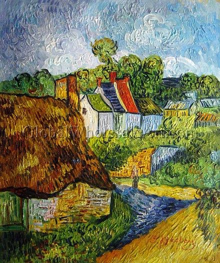 Houses In Auvers By Vincent Van Gogh Oil Painting From
