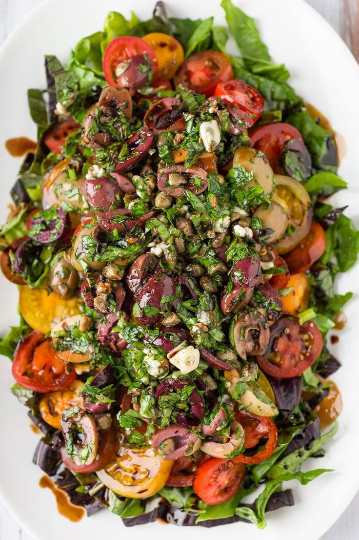 Roman Summer Salad Recipe Summer, Fresh basil and Olives
