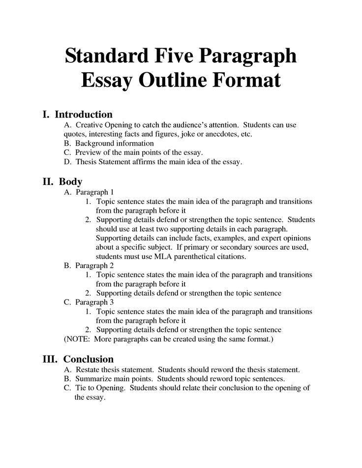 how to write an argumentative essay outline