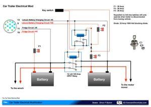 leisure battery charging circuit diagram | van electrics