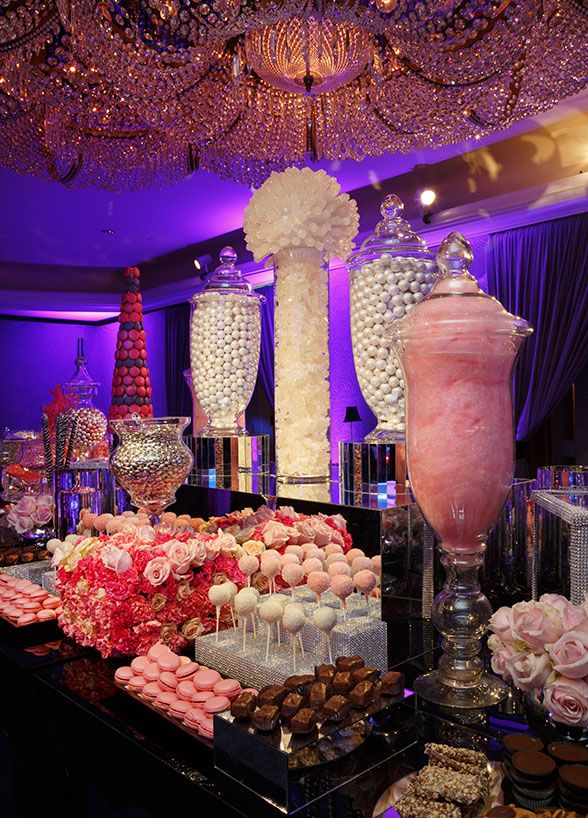 Indulge everyone's inner child with a fabulous candy bar. Guests can make their very own candy bags to enjoy at the party and to
