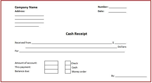 Check Receipt Template. Templates Invoice Template And Microsoft