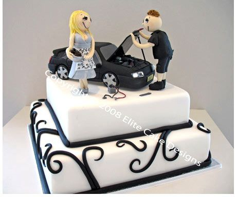 Car Wedding Cake For Men Mechanic Novelty Cake