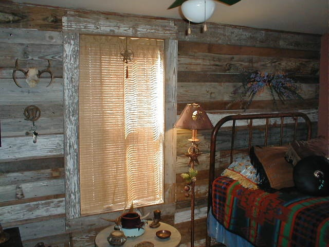 Western Style Bedroom Burlap Fabric Curtains Reclaimed