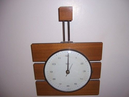 Vintage Diehl Electric Wall Clock Mid Century Danish