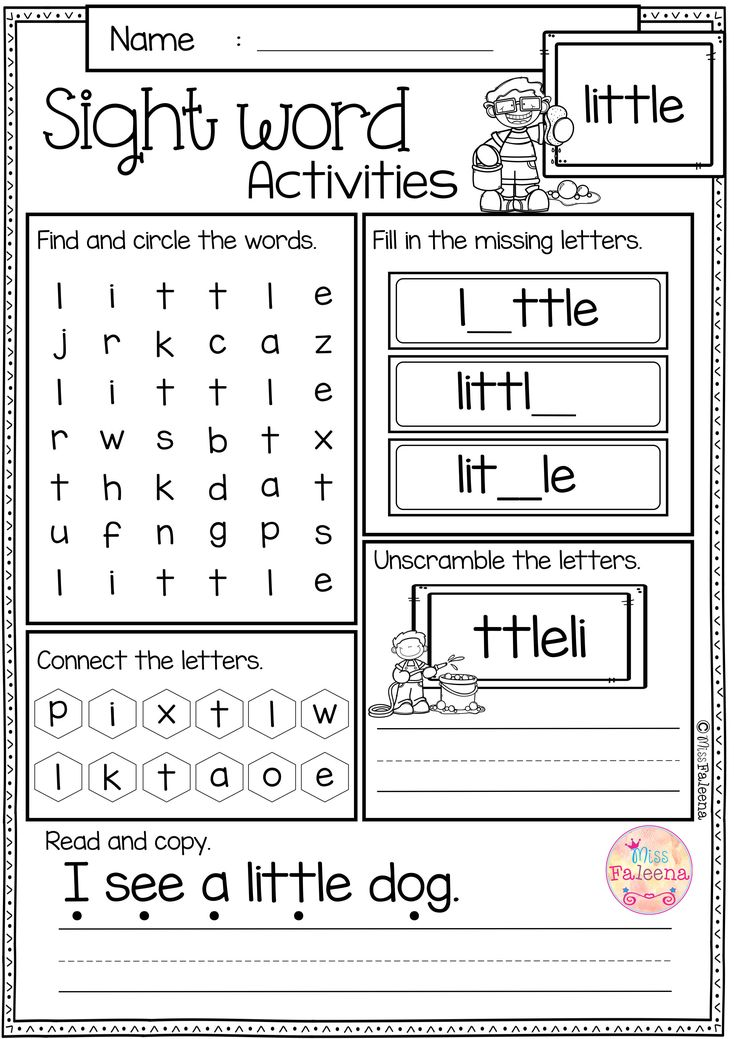 Sight Word Activities (PrePrimer) Classroom activities