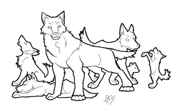 anime wolf coloring pages and wolves on pinterest