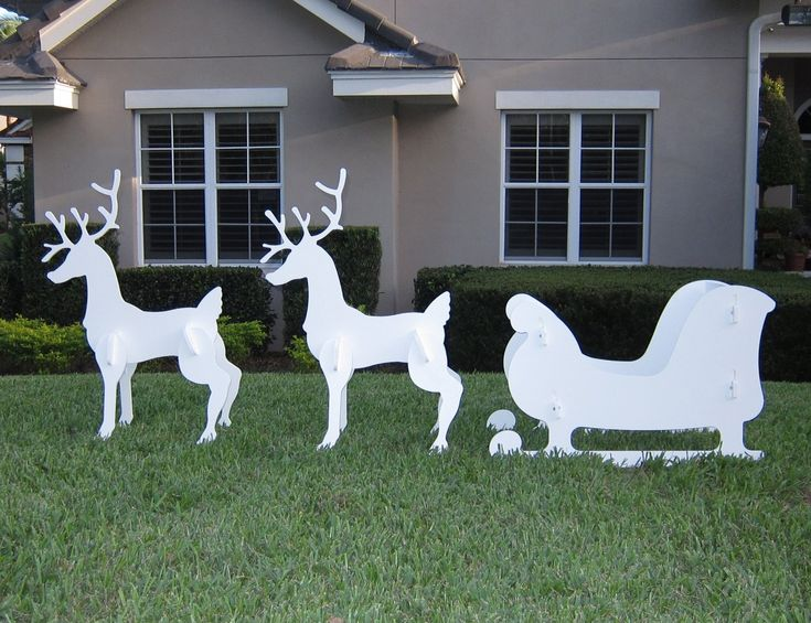 1000 Images About Reindeer Outdoor Christmas Decorations