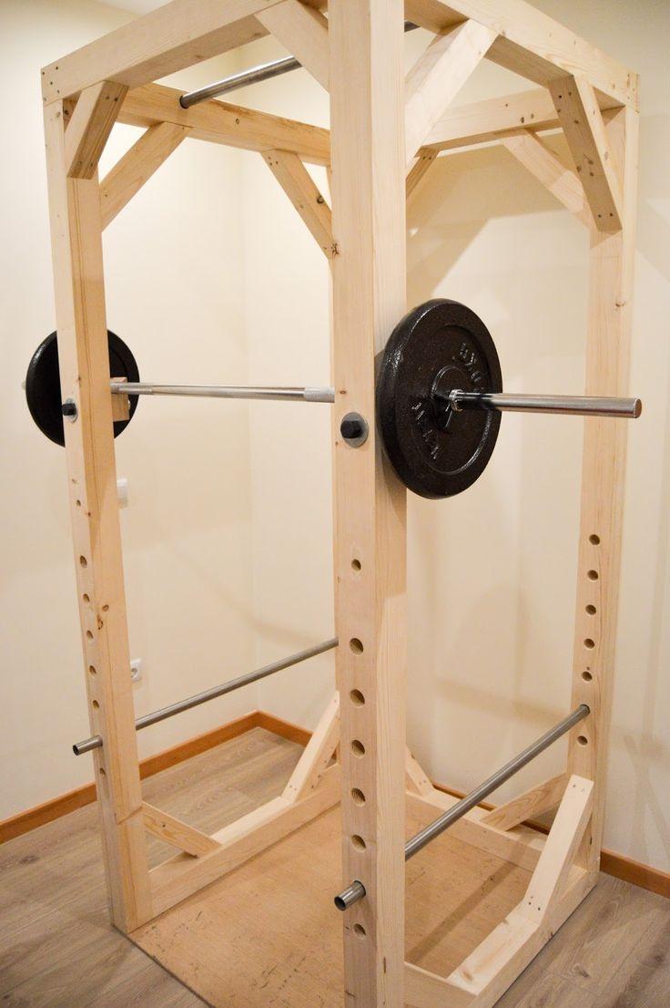 Homemade Diy Power Rack Diy Fitness Equipment