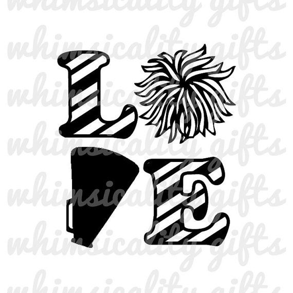 Download Digital File - Love Cheerleading with SVG, DXF, PNG ...