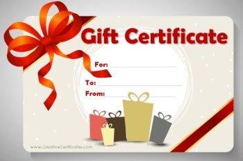 Birthday Gift Certificate Template CRAFTS Pinterest