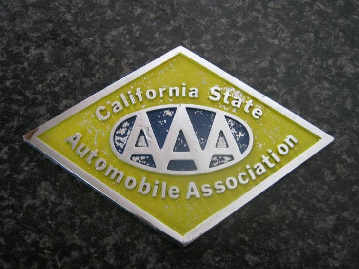 CALIFORNIA STATE AUTOMOBILE ASSOCIATION Vintage badges