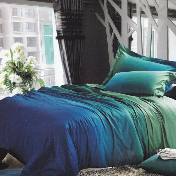 Teal Gradient Bedding Set Restyle Pinterest