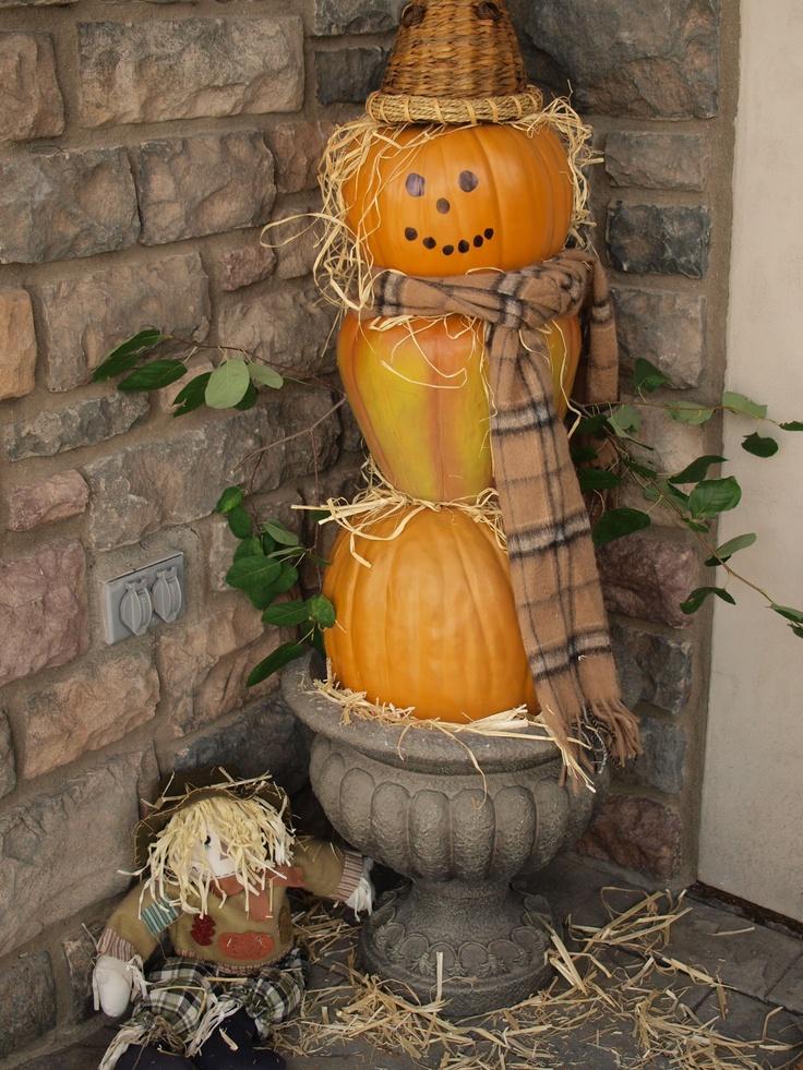 Pumpkin scarecrow Fall & Halloween Pinterest